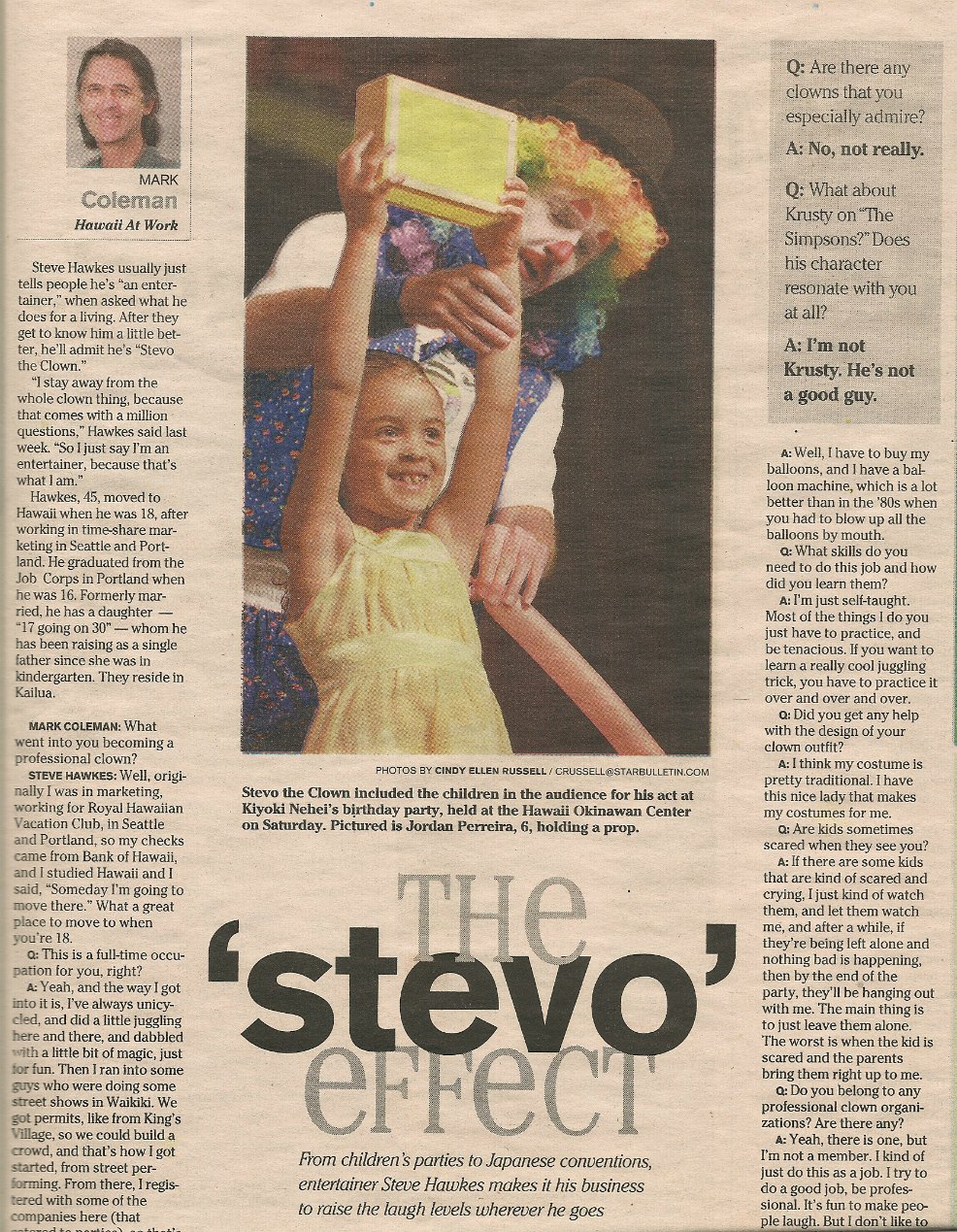 Stevo in the news